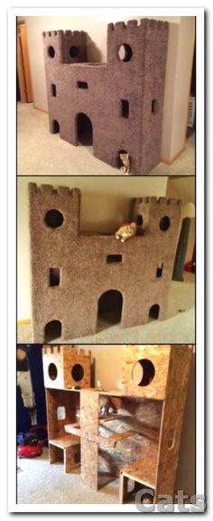 DIY Cat Project: How to build the ultimate cat castle! This.