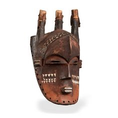 "Biombo Mask Democratic Republic of the Congo  H: 40 cm (approx. 1' 4"")  Estimated age: 19th century   Provenance: Old German collection; Gallery Möllenhof; .jpg (2000×2000)"