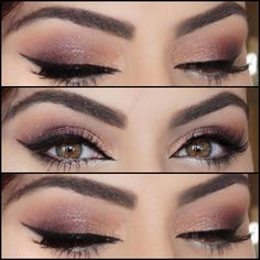 Champagne and mauve tones for my bride lashes by @hudabeauty in Giselle Brunette brow wiz and dark brown brow powder by @anastasiabeverlyhills by vanitymakeup