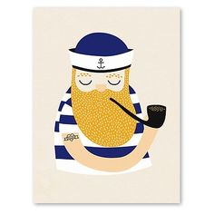 coole A4 poster 'Little sailor'