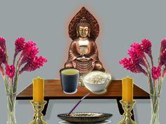 O altar é um item importantíssimo de se ter em casa, seus constituintes são carregados de um simbolismo rico e auspicioso que auxiliam o Budista na meditaç