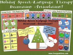 Seasons Greetings and Activities for All! Speech Language Therapy, Speech Language Pathology, Speech And Language, Speech Therapy, Speech Activities, Therapy Activities, Therapy Ideas, Christmas Language Arts, Articulation Therapy