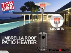 Patio Heater Outdoor Gas Heater Umbrella 43000BTU | Trade Me