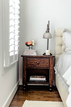 bedside table styling | as seen on The Styled Fox, a Houston Fashion Blog