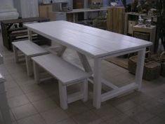 Buitentafel Binnentafel langetafel, Lange Witte tafel Kloostertafels, woonkeukentafels