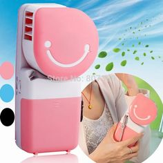 Mini Portable Handheld Electric Fan Air Conditioner with USB //Price: $23.54 & FREE Shipping //     #hashtag2