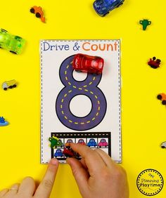 Preschool Transportation Unit - Tracing numbers with Cars and 10 Frame Preschool Colors, Numbers Preschool, Preschool Lesson Plans, Preschool Math, Preschool Worksheets, Transportation Preschool Activities, Transportation Worksheet, Toddler Learning Activities, Early Years Classroom