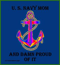 not a navy mom (army and marine) but this is cute