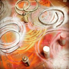 Spray painting wires for Wred Skayre shoot. Aliens in LA. Aliensinla.com #aliensinla