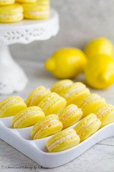 Lemon French Macarons ~Sweet and Savory by Shinee