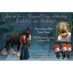 Brave Merida Birthday Party Invitations by LilyPadInvitations, $12.00