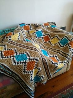 Modular Southwest design-it-yourself afghan (pattern) by Judith Russell