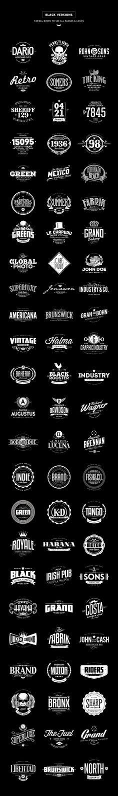 20% Off - 72 Badges & Logos Bundle by Easybrandz on Creative Market