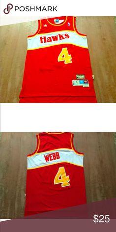 42c75c699ea Spud Webb ATL Hawks  4 Home Jersey L Large NBA Other