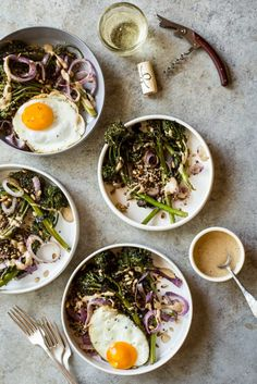 Za'atar Roasted Broccolini Salad with Sumac Tahini Sauce
