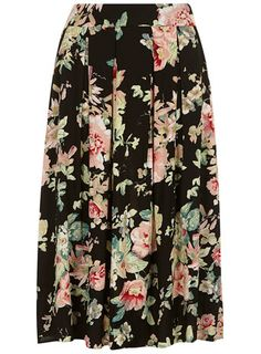 Black Floral Midi Skirt - Skirts - Clothing Sister Missionary jackpot