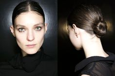 Ballerina Off-Duty- love Prada - love the eyes, and teh minimal make up