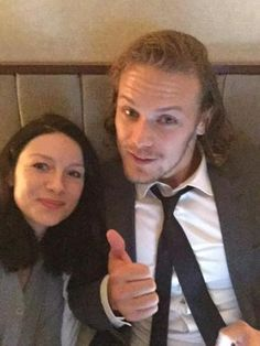 "Sam Heughan on Twitter: "".@caitrionambalfe let's not show mum"""
