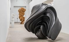Three days before the opening of a new solo exhibition at Galerie Thaddaeus Ropac, Tony Cragg could be found moving one of his works on a pallet jack. Named Stroke, because of its loose, Lichtenstein-like resemblance to a humongous, dimensional brushst...