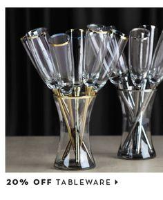 20% off tableware
