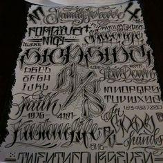 Custom Lettering by Micky Hora
