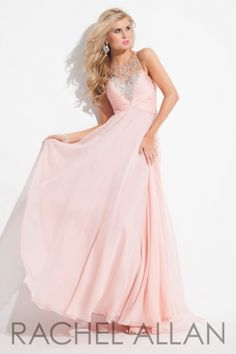 Chiffon+gown+with+high+neckline