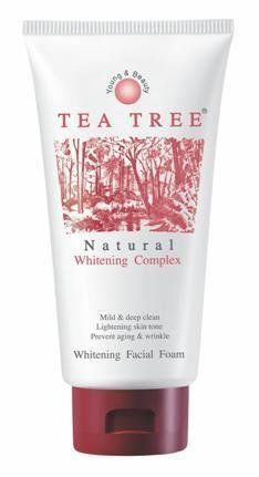 TEA Tree Natural Whitening Complex Lightening Skin Facial Foam Extra Mild by Tea Tree. $10.00. TEA TREE NATURAL WHITENING COMPLEX LIGHTENING SKIN FACIAL FOAM EXTRA MILD 2.4OZ  made  in Thailand. Product type: Facial foam  Brand: Tea tree  Variant: Whitening  Product features: Tea Tree whitening facial foam is scientifically researched formula, containing natural active ingredients to obtain maximum cleansing and skin lightening properties.  ? Extra mild formula to obtain gen...