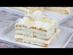 Raffaello Kuchen ohne Backen I Blitzrezept I No Bake Torte - YouTube Vanilla Cake, Food And Drink, Sweets, Kitchen Stuff, Super, Videos, Fitness, Cup Cakes, Gratin