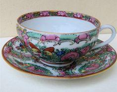 Vintage  Tea Cup Saucer Porcelain Japan