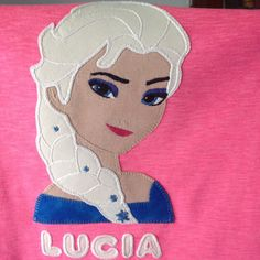 Camiseta Frozen princesa Elsa , aplique