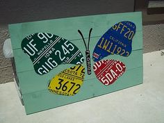 creative uses for recycled license plates