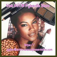 Super Extend Winged Out Mascara, Kohl Eyeliner, True Color Eyeshadow Quad in Chocolate Sensation, Ultra Color Lipstick in Rich Chocolate and Avon Glow Bronzing Pearls at https://pylesvillestore.avonrepresentative.com #avon #makeup #avonpylesvillestore