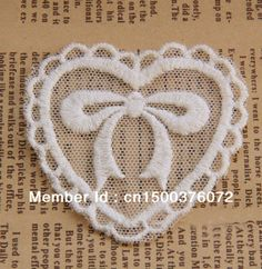(20 Pieces/Lot) Free Shipping LA003 High Quality Heart-Shaped Fabric Patch Cloth Paste Handmade Cotton Lace Applique DIY $12.99