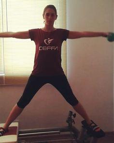 Pilates no @ceffatijuca! Venha marcar sua aula experimental gratuita! #reformer #equilibrio #força #coordenação