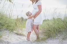 Beautiful Family Beach Maternity Session