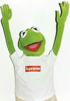 Supreme Wallpaper: Supreme x Kermit Frog Wallpaper, Wallpaper World, Mobile Wallpaper, Hype Wallpaper, Wallpaper Art, Jim Henson, Les Muppets, Sapo Meme, Supreme Iphone Wallpaper