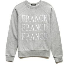 FOREVER 21 France Graphic Pullover found on Polyvore