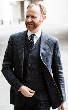 MARK GATISS, a British actor, comedian, screenwriter and novelist. - played in The Game of Thrones as Tycho Nestoris. He also did TV series Dr. Who and Sherlock. A member of the comedy team, The Leagues of Gentlemen.