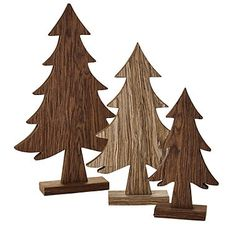 Wooden Christmas Tree Trio - from Lakeland