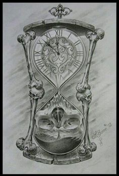 Drawn hourglass black and white - pin to your gallery. Explore what was found for the drawn hourglass black and white Tattoo Design Drawings, Skull Tattoo Design, Skull Tattoos, Tattoo Sketches, Body Art Tattoos, Drawing Sketches, Sleeve Tattoos, Tattoo Designs, Hour Glass Tattoo Design