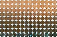 Varying shades of pennies :)