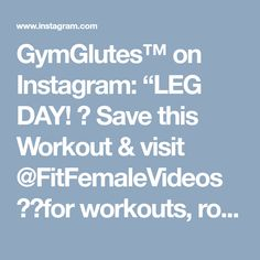 """GymGlutes™ on Instagram: """"LEG DAY!  Save this Workout & visit @FitFemaleVideos for workouts, routine, and everythin else you need to become fit! Pulse squats, bosu…"""" • Instagram"""