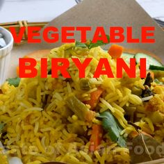 You will love this vegetable biryani which is fit to grace the banquets tables of the Mughal court. The good news is you Rice Recipes, Vegetarian Recipes, Cooking Recipes, Vegetarian Biryani, Cooking Ideas, Dessert Recipes, Nasi Goreng, Indian Veg Recipes, Asian Recipes