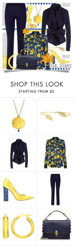 """Style Diary This October"" by helenaymangual ❤ liked on Polyvore featuring Gurhan, Donna Karan, Altuzarra, Pollini, La Perla and Fendi"