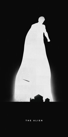 The Alien Superman - Illustrated Silhouettes of Superheroes Highlight Their Past Present by http://khoaho-thisisforyou.com/