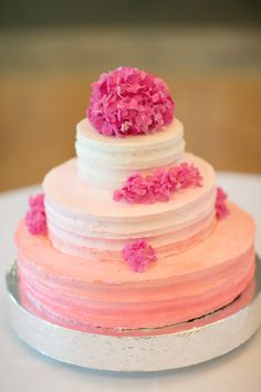 Pink Ombre Wedding Cake | Miss Molly's Pastries