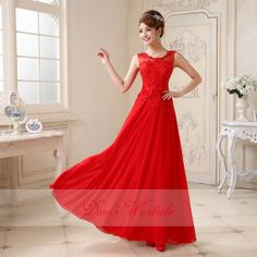 New 2014 Red lace prom dresses long prom dresses by DorasWardrobe, $149.00