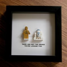 Star Wars Art - LEGO R2D2 and C3PO - Wedding Gift - Wall Decor - Picture Frames Displays - LEGO Art