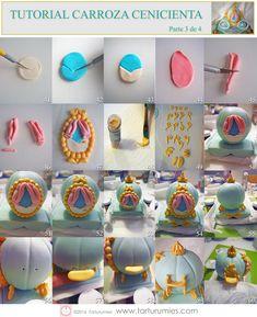 Fondant Figures Tutorial, Fondant Toppers, Cake Tutorial, Cake Decorating With Fondant, Cake Decorating Techniques, Cake Decorating Tips, Diy Fairy Wings, Chocolate Pinata, Carriage Cake