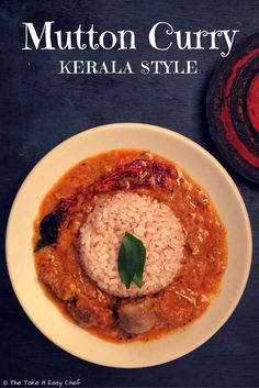 This mutton (lamb) recipe slow-cooked in authentic Kerala style is mildly hot and spicy and has many great ingredients that God's own country has to offer - great spices coconut milk and the signature coconut oil. Lamb Recipes, Indian Food Recipes, Ethnic Recipes, Sweets Recipes, Kerala Recipes, Tofu Recipes, Recipies, Dried Chillies, Man Food